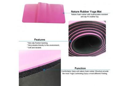 PU Natural Rubber Yoga Mat