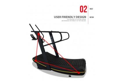 BKB Fitness Curve Non Motorized Self Generated Skillmill/ Treadmill