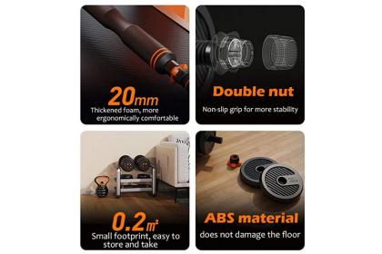 15KG 6-in-1 Dumbbell Kettlebell Barbell Adjustable Weight Set